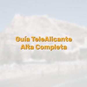 Ficha completa TeleAlicante. Completa los datos de tu comercio en la guía de TeleAlicante y aprovecha sus ventajas. Con el alta gratuita en la guía solo podrás beneficiarte de tener presencia en TeleAlicante