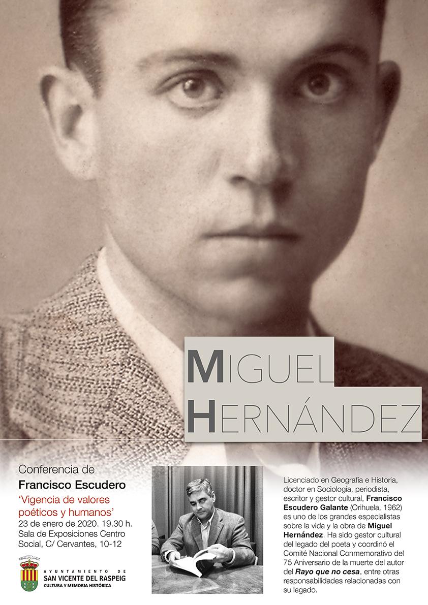 Conferencia sobre Miguel Hernández en San Vicente